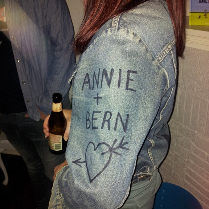 Fan denium jacket art
